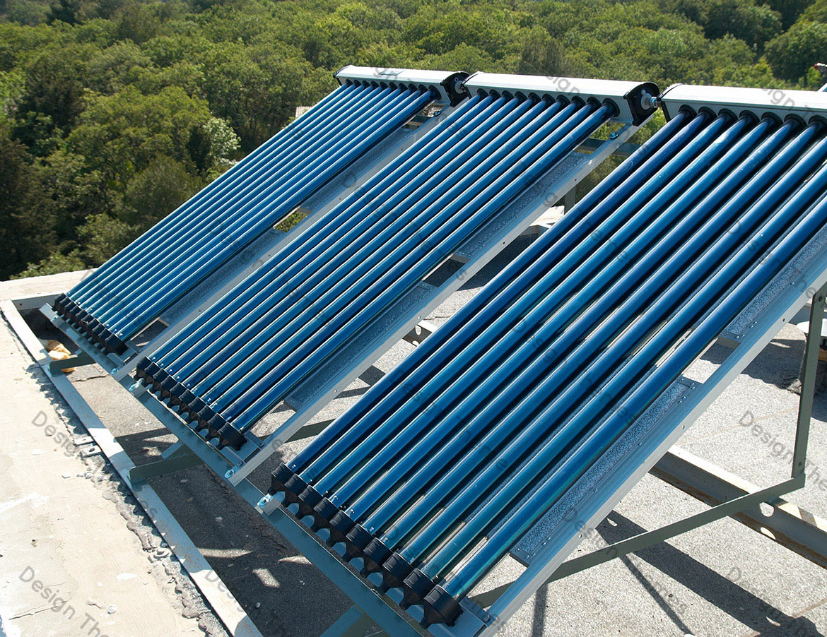 SOLAR HEATERS ON ROOF TOP