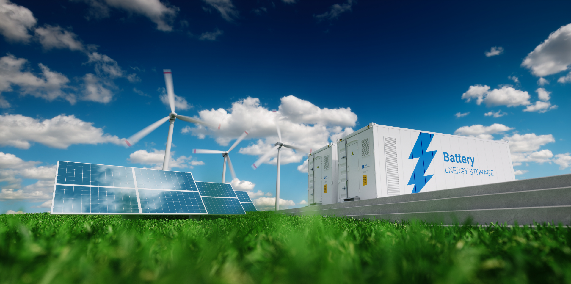 Solar, wind and battery storage