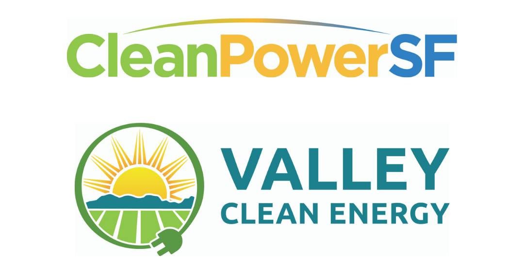 CleanPowerSF and Valley Clean Energy Logos